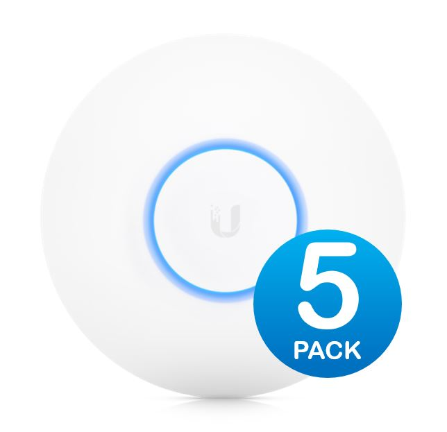 Ubiquiti UniFi Wave 2 Dual Band 802.11ac High Density AP 5 Pack - Does Not Include PoE Injector