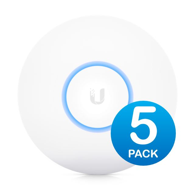 Ubiquiti NanoHD Unifi Compact 802.11ac Wave2 MU-MIMO Enterprise Access Point, 5-Pack (*PoE injector is not included) - Upgrade from AC-PRO