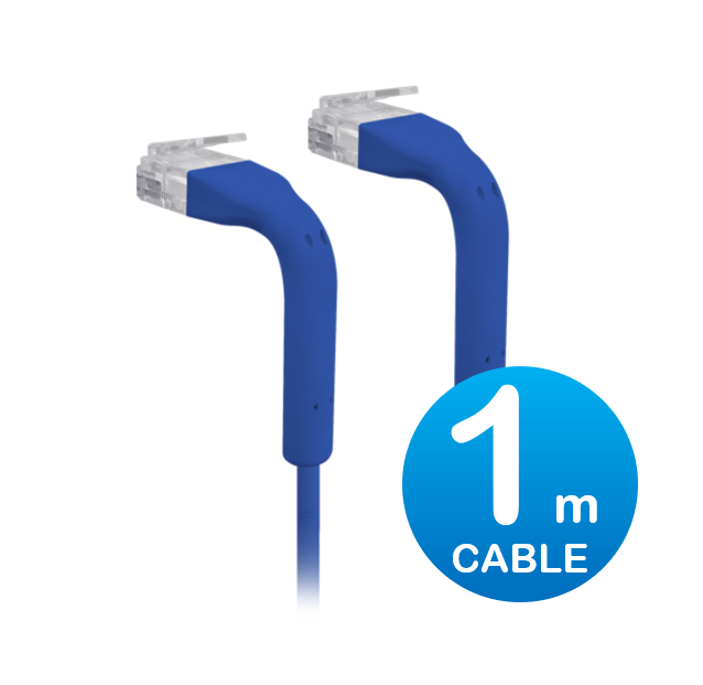 UniFi patch cable with both end bendable RJ45 1m - Blue