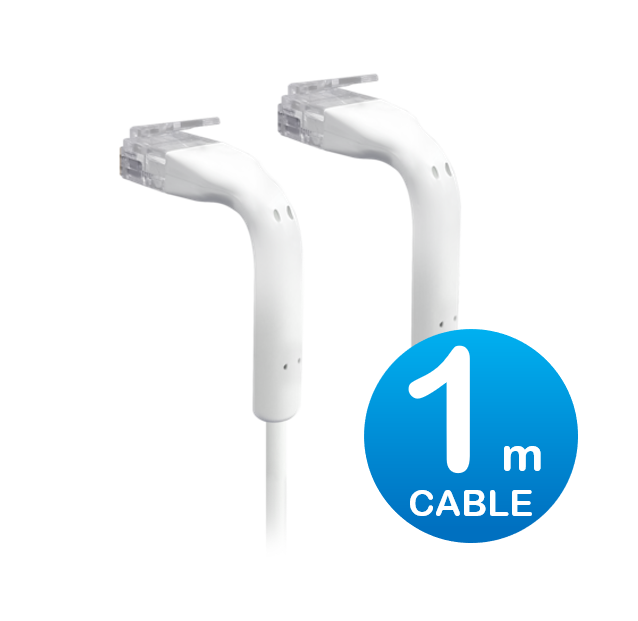 UniFi patch cable with both end bendable RJ45 1m - White