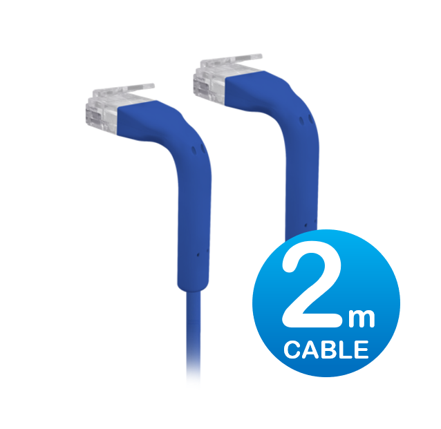 UniFi patch cable with both end bendable RJ45 2m - Blue