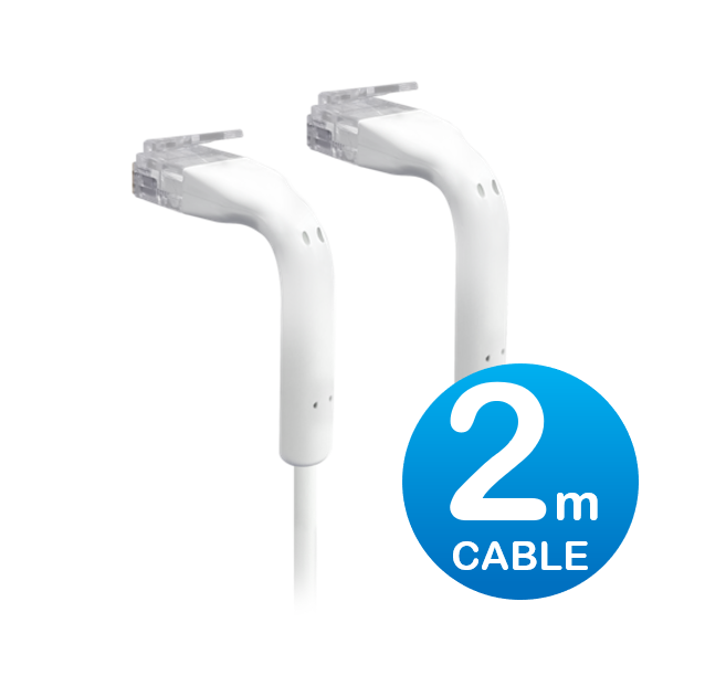 UniFi patch cable with both end bendable RJ45 2m - White
