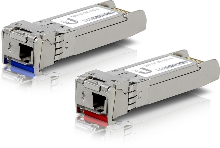 Ubiquiti UFiber  SFP+ Single-Mode Module 10G BiDi 2-pack - Same 10Gbps speed, Less Cable Required (Single Strand and LC Connector)