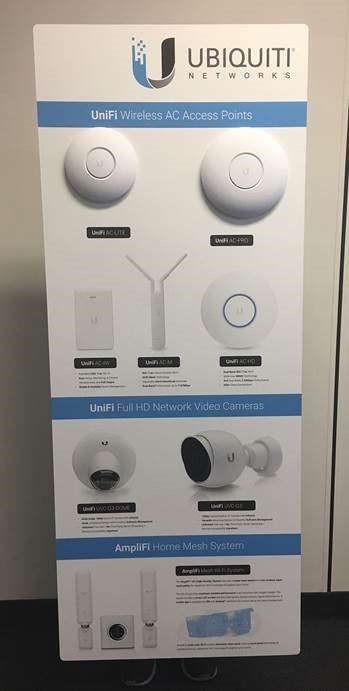 Ubiquiti Builders, Electricians  Showroom Wall Display Unit