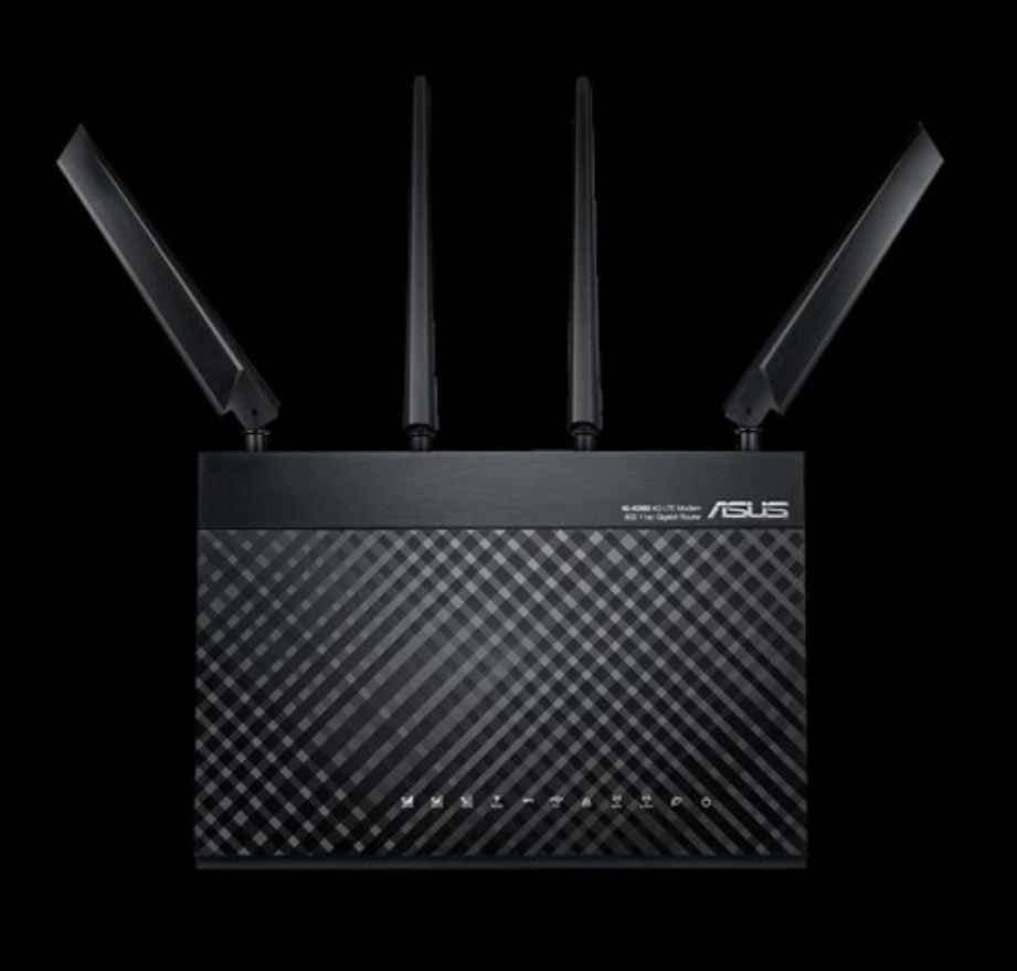 ASUS 4G-AC68U AC1900 4G LTE Dual-Band Wi-Fi Modem Router, 3G/4G Support, 4G LTE, Gigabit Ethernet Dual-WAN, MU-MIMO, Smart QoS, SIMU/USIM Card Support