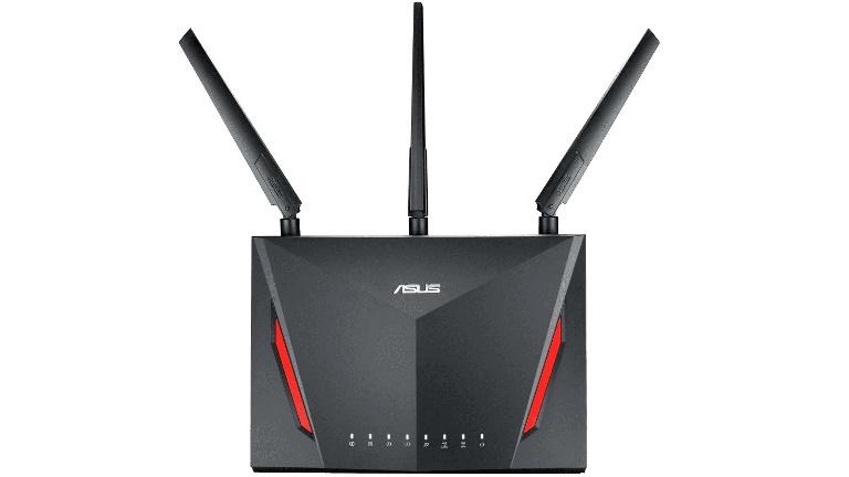 ASUS RT-AC86U AC2900 Dual Band Gigabit WiFi Gaming Router with MU-MIMO, AiMesh, AiProtection, WTFast, Adaptive QoS
