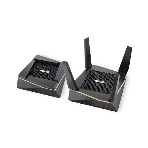 ASUS RT-AX92U AiMesh Pack (2Pack) AX6100 Tri-band Wi-Fi 6 (802.11ax) Router, AiProtection Pro, AiMesh, Built-in WTFast, VPN, Adaptive QoS (WIFI6)
