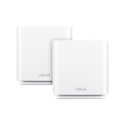 ASUS ZENWIFI CT8 AC3000 Tri-band Whole-Home Mesh WiFi Routers (2 Pack) White Colour