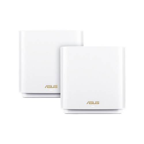 ASUS ZENWIFI XT8 AX6600 Wifi 6 Tri-Band Whole-Home Mesh Routers White Colour (2 Pack)