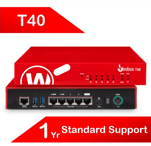 WatchGuard Firebox T40 with 1-yr Standard Support (AU) - Only available to WGOne Silver/Gold Partners