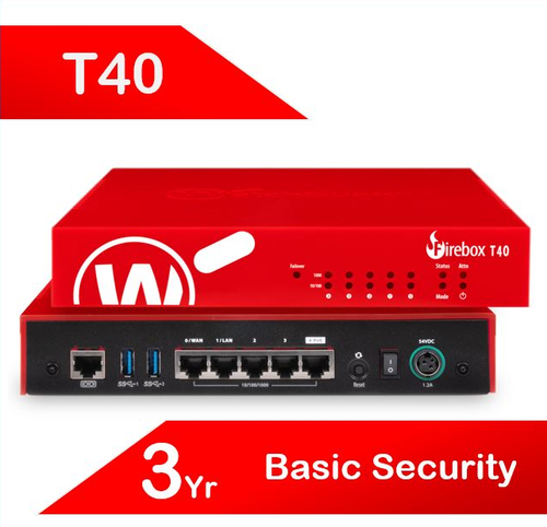 WatchGuard Firebox T40 with 3-yr Basic Security Suite (AU)