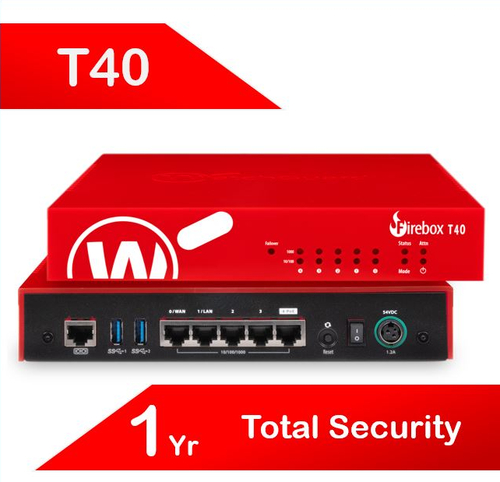 WatchGuard Firebox T40 with 1-yr Total Security Suite (AU)
