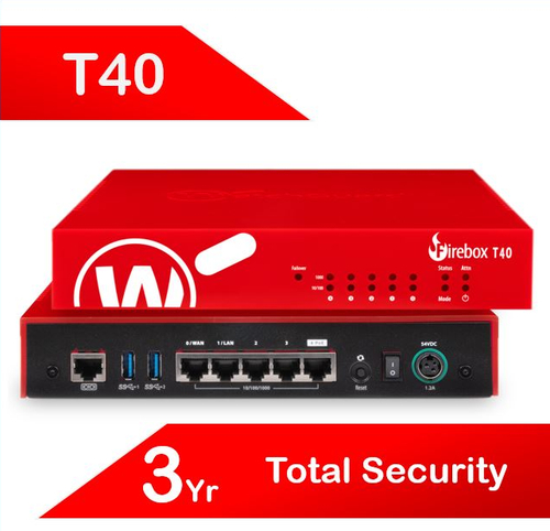 WatchGuard Firebox T40 with 3-yr Total Security Suite (AU)
