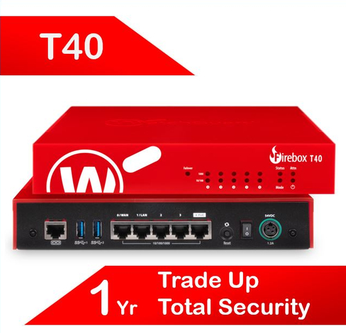Trade Up to WatchGuard Firebox T40 with 1-yr Total Security Suite (AU)