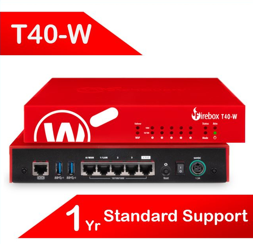 WatchGuard Firebox T40-W with 1-yr Standard Support (AU) - Only available to WGOne Silver/Gold Partners