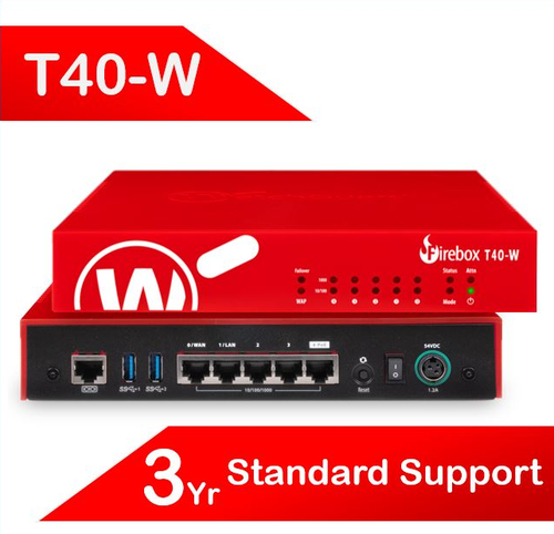 WatchGuard Firebox T40-W with 3-yr Standard Support (AU) - Only available to WGOne Silver/Gold Partners