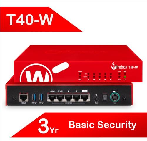 WatchGuard Firebox T40-W with 3-yr Basic Security Suite (AU)