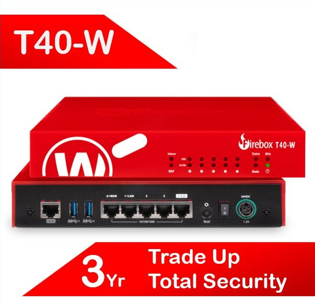Trade Up to WatchGuard Firebox T40-W with 3-yr Total Security Suite (AU) - Red4Red Loyalty Promotion Expires 30 September