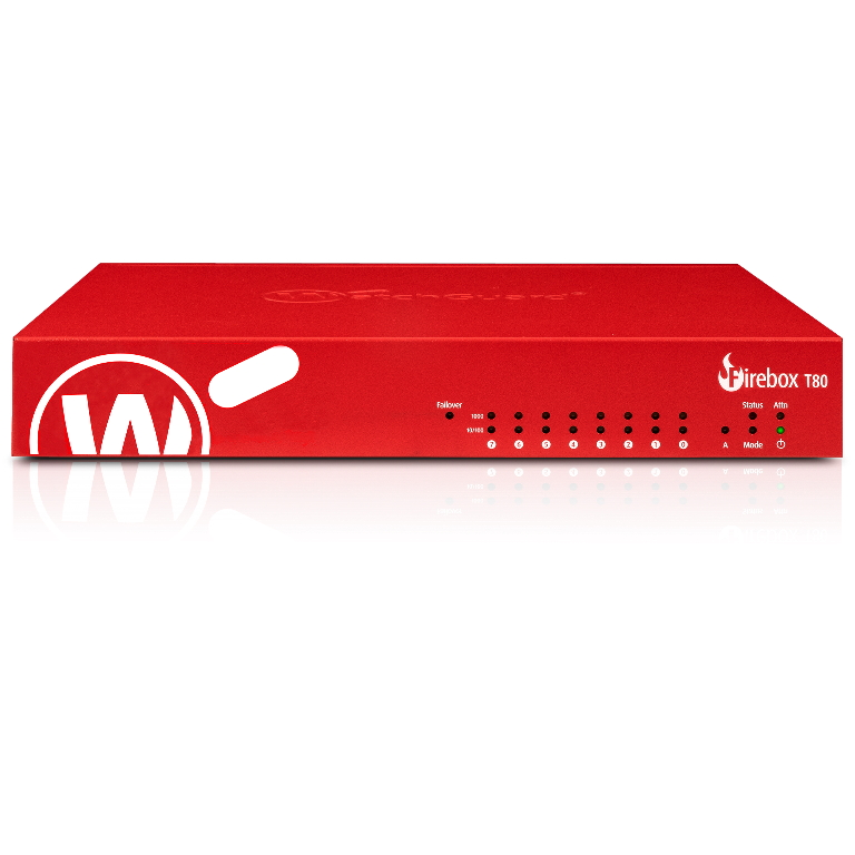 WatchGuard Firebox T80 with 3-yr Standard Support (AU) - Only available to WGOne Silver/Gold Partners