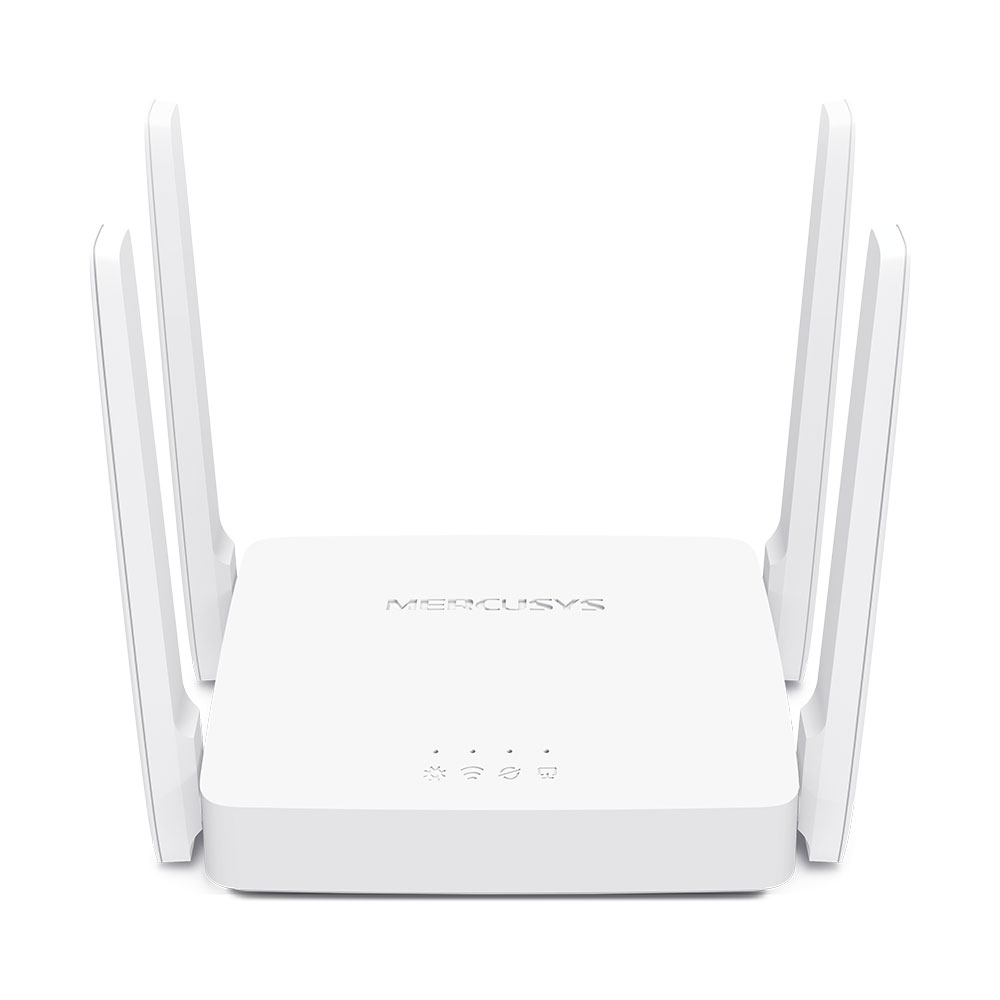 Mercusys AC10 AC1200 Wireless Dual Band Router, 867 Mbps @ 5GHz 300 Mbps @ 2.5 GHz, WPS Button, 1xWAN 1xLAN 4 Fixed Omni-Directional Antenna