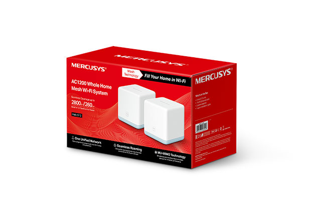 Mercusys Halo S12(2-pack) AC1200 Whole Home Mesh Wi-Fi System