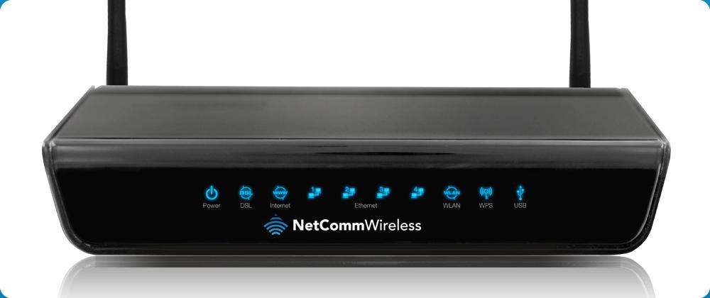 Netcomm N300 ADSL Modem Router 4xLAN/IPv6/USB Host/UPnP