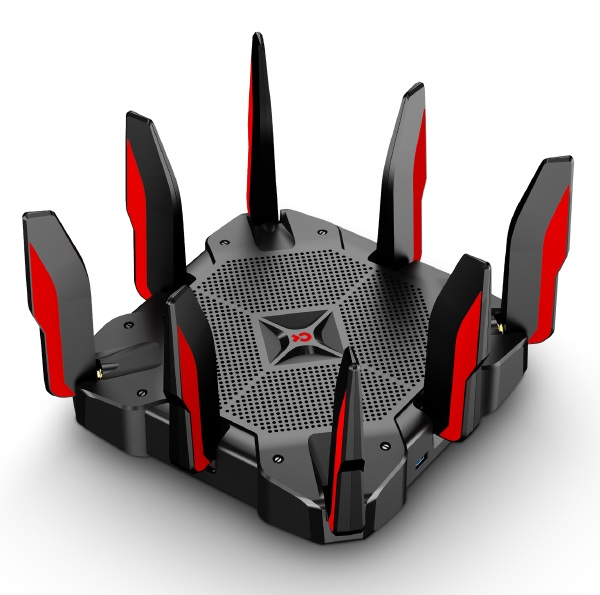 TP-Link Archer C5400X AC5400 5400Mbps Wireless Tri-Band MU-MIMO Gigabit Gaming Router 2x2167Mbps@5GHz 1000Mbps@24GHz 1xGbE WAN 8xGbE LAN 8xAntennas (L