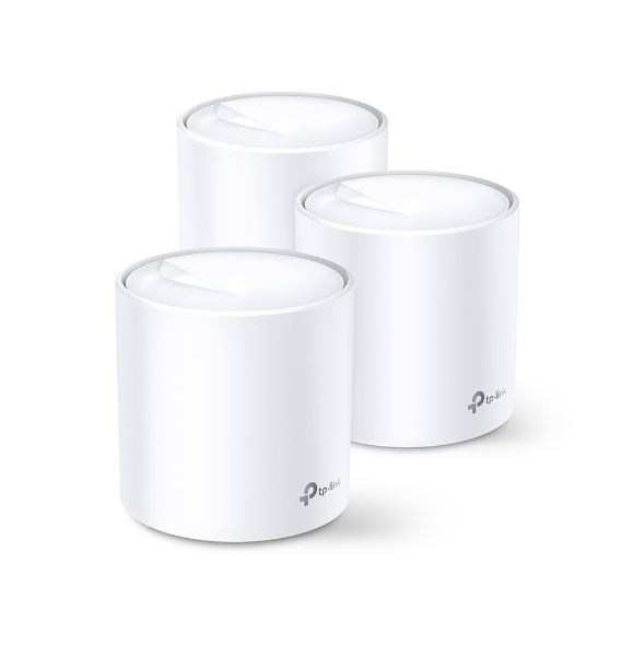 TP-Link Deco X20(3-pack) AX1800 Whole Home Mesh Wi-Fi System, Up To 530 sqm Coverage, WIFI6, 1201Mbps @ 5Ghz, 574Mbps @ 2.4 GHz OFDMA, MU-MIMO