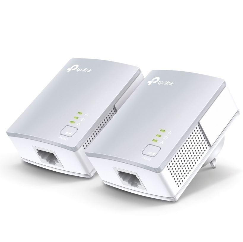 TP-Link TL-PA4010KIT AV600 Powerline Ethernet Adapter Starter Kit 600Mbps HomePlug AV 1xLAN Port 300m Range Plug  Play Mini Size