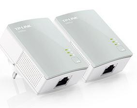 TP-Link TL-PA411 KIT AV500 Nano Powerline Adapter Starter Kit 500Mbps HomePlug AV 1x100Mbps LAN 300m range Miniature design Plug  Play ~TL-PA211-KIT