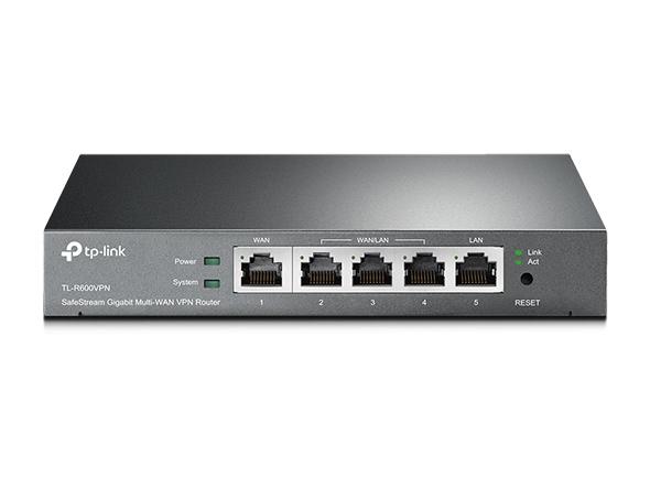 TP-Link TL-R600VPN Gigabit Broadband VPN Router 1 Gigabit WAN port 4 Gigabit LAN ports 20 IPsec 16 PPTP L2TP VPN Tunnels