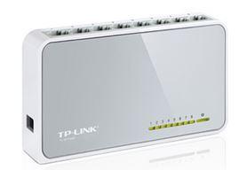 TP-Link SF1008D 8 Port Switch 10/100Mbps Desktop Plastic case