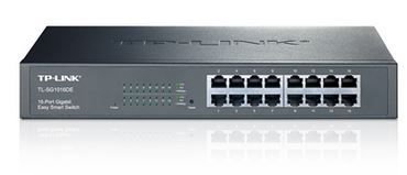 TP-Link TL-SG1016DE 16-Port Gigabit Easy Smart Switch network monitoring, traffic prioritization and VLAN features Web-based user interface