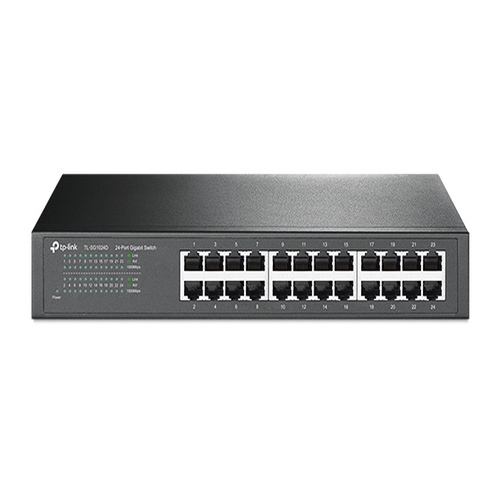 TP-Link TL-SG1024D 24-Port Gigabit Desktop/Rackmount Unmanaged Switch energy-efficient Supports MAC Plug  play 48Gbps Switching Capacity