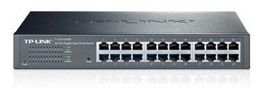 TP-Link TL-SG1024DE 24-Port Gigabit Desktop/Rackmount Easy Smart Switch energy-efficient L2 Features Supports MAC 128xVLAN 48Gbps Switching Capacity