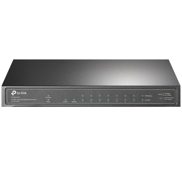 TP-Link TL-SG1210P 10-Port Gigabit Desktop Switch with 8-Port PoE+