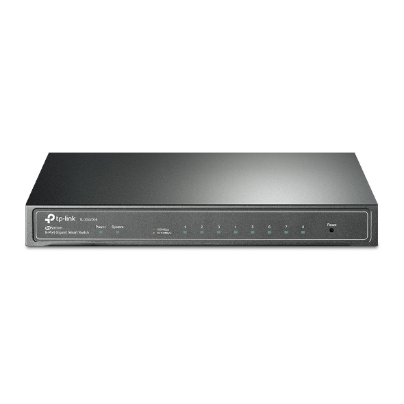 TP-Link TL-SG2008 8-Port Gigabit Smart Switch Fanless 802.1Q VLAN, ACL, Port Security and Storm control L2/L3/L4 QoS and IGMP snooping
