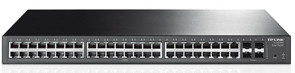 TP-Link T1600G-52TS (TL-SG2452) JetStream 48-Port Gigabit Smart Switch with 4 SFP Slots 104Gbps L2+ Feature