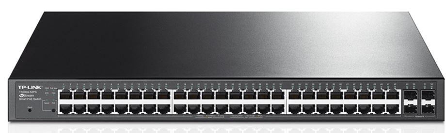 TP-Link TL-SG2452P T1600G-52PS JetStream 48-Port Gigabit Smart Switch with 4 SFP Slots 384W PoE+ 802.1Q VLAN Port Security Storm control L2/L3/L4 QoS