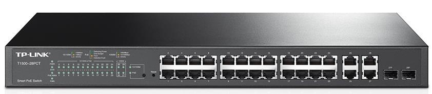 TP-Link T1500-28PCT (TL-SL2428P) JetStream 24-Port 10/100Mbps + 4-Port Gigabit Smart PoE+ Switch