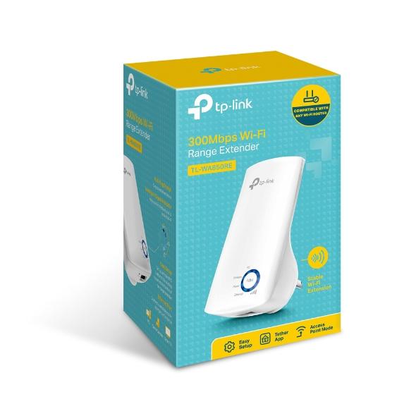 TP-Link TL-WA850RE N300 WiFi Range Extender 2.4GHz (300Mbps) 1x100Mbps LAN 802.11bgn 2x OnBoard antennas Mini size wall-mounted (~TL-WA830RE)