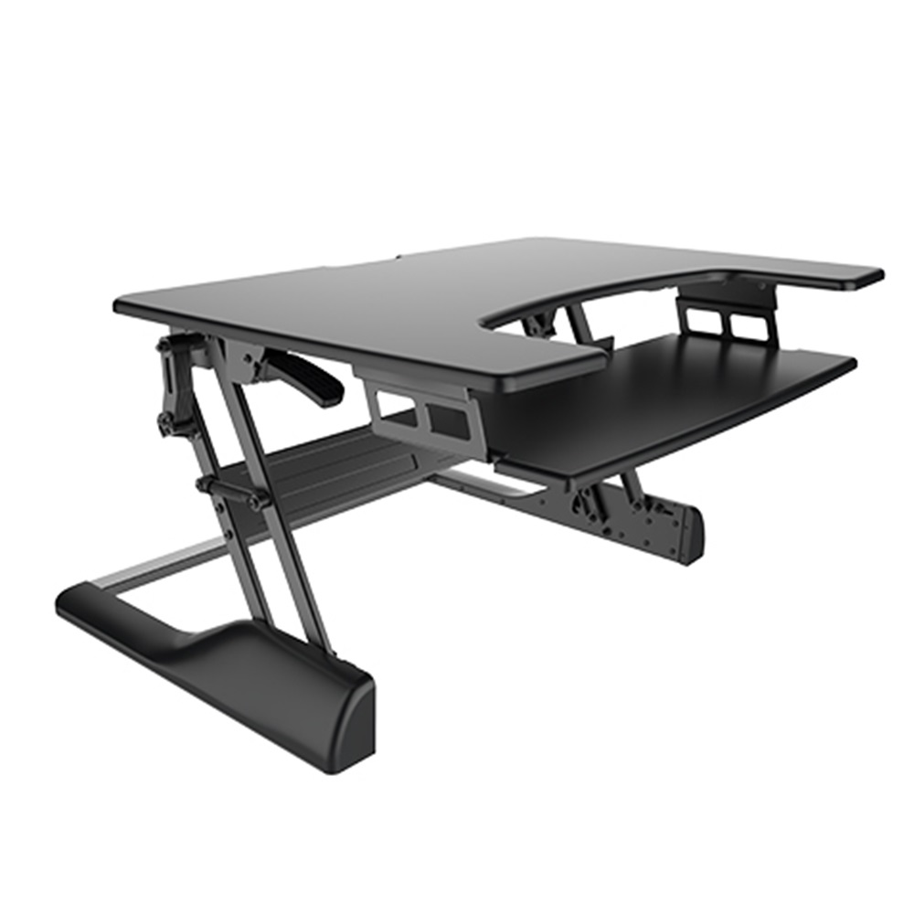 Brateck Height-Adjustable Sit and Stand Desk Z Lift Holds up to 15kg Stepless height settings 900mm width