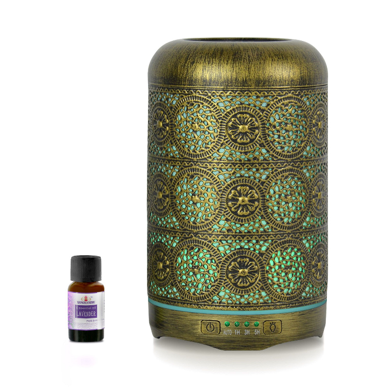 mbeat® activiva Metal Essential Oil and Aroma Diffuser-Vintage Gold -260ml