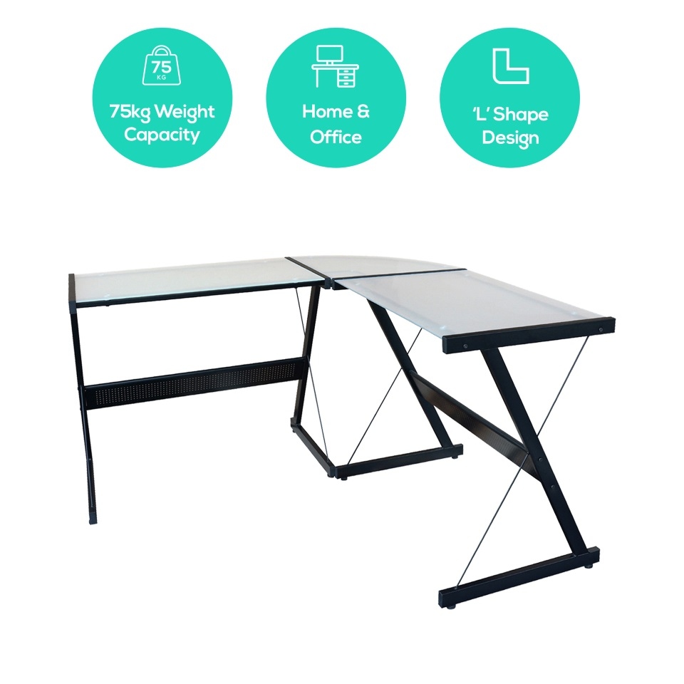 mbeat® actiVIVA Solano L-Shape Modern Computer Desk