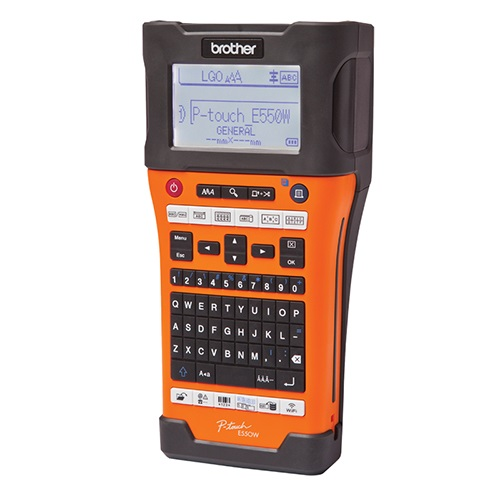Brother PT-E550WVP P-Touch Labeller - For Electrical, Data-telecom and Tradesmen - 3 Year Warranty