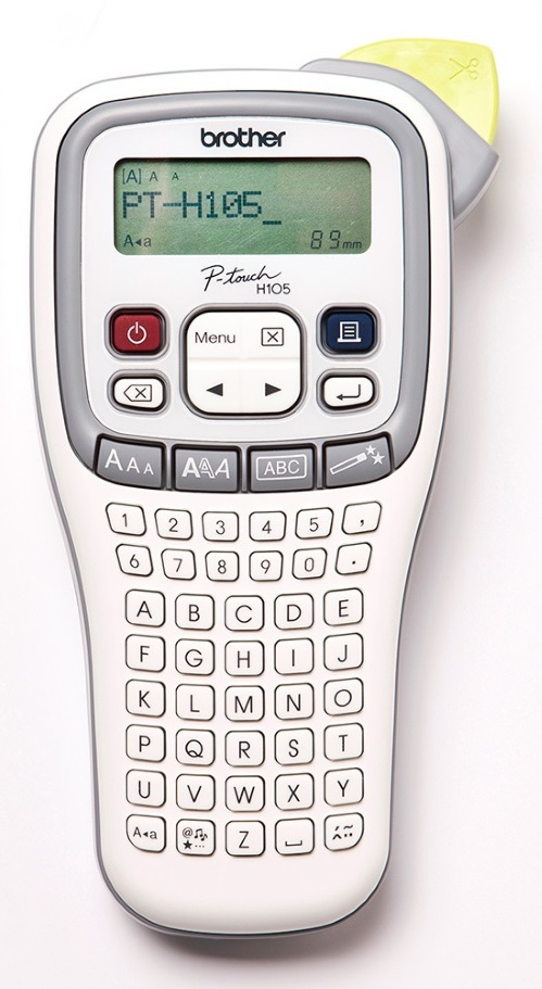 Brother PTH105 Accent Labeller Handheld, White/Grey 3.5-12MM