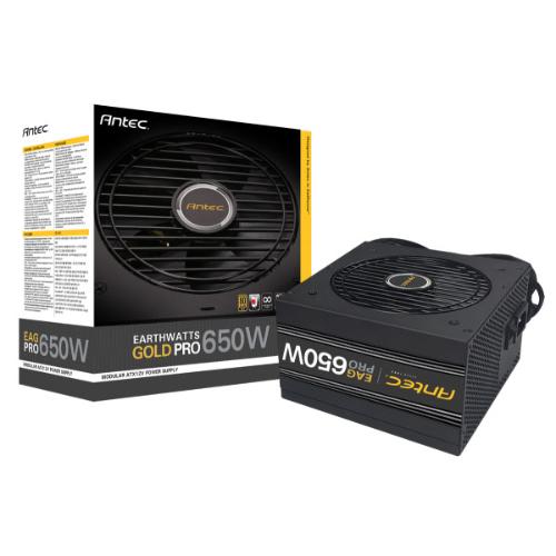 Antec EA650G PRO 650w 80+ Gold PSU Semi-Modular, 1x EPS 8PIN, 120mm Silence Fan, Japanese Caps, 7 Years Warranty
