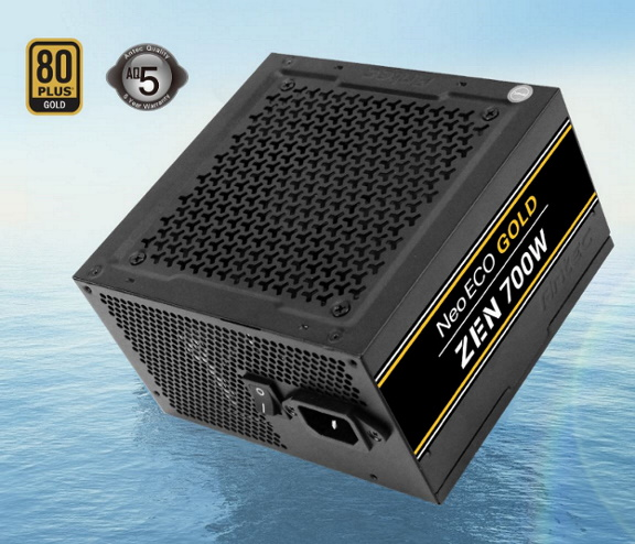 Antec Neo Eco ZEN 700w PSU 80+ Gold,120mm Silent Fan, 2x EPS 8PIN. Thermal manager, Japanese Caps, 5 Years Warranty