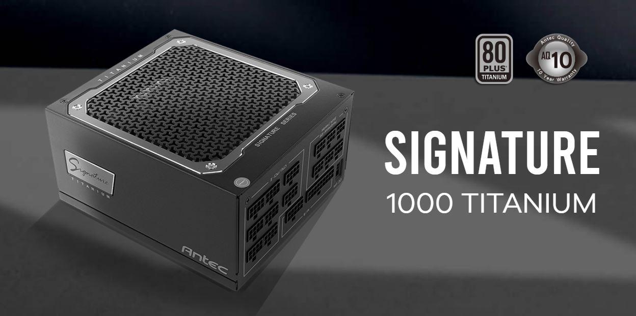 Antec Signature 1000w 80+Titanium Fully Modular, FDB 135mm Fan, Top Grade Japanese Capacitors, OC-LINK. 10 years warranty. Server Grade PSU