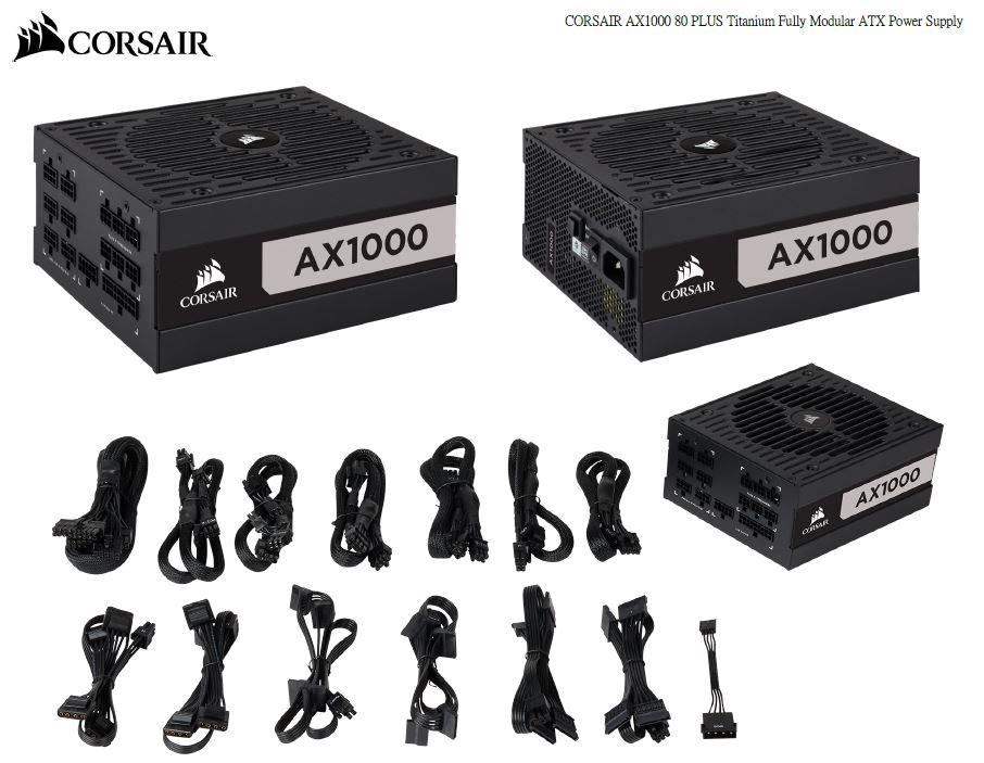 Corsair 1000W AX Series 80 PLUS Titanium Fully Modular ATX Power Supply 10 Years Warranty